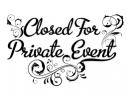 The image for CLOSED PRIVATE PARTY